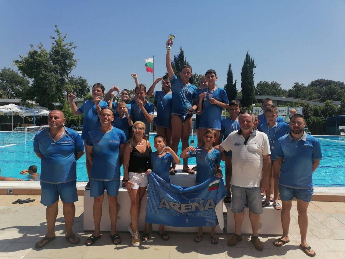 Децата U11 на Арена Бургас спечелиха Купата на БФВТ