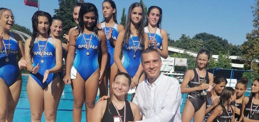 Девойките U15 на Арена Бургас спечелиха втора Купа на БФВТ за клуба